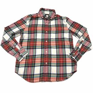 Crewcuts red plaid button down